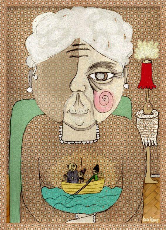 Ilustracion digital para cuentos Navidad en su tintal-Laura-G-Becares-Las-Hidalgas