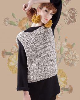 vest woven with transhumant merino wool-handmade-Borra-Las hidalgas